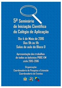 Cartaz do 5 seminário